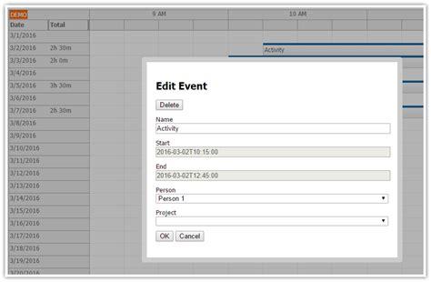 tutorial javascript php angularjs timesheet tutorial javascript php daypilot code