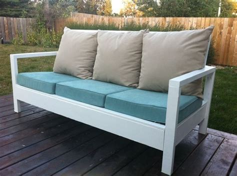 diy simple white outdoor sofa outdoor decor