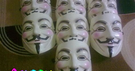 Topeng Anonymous Berkualitas jual topeng anonymous v for vendetta fawkes