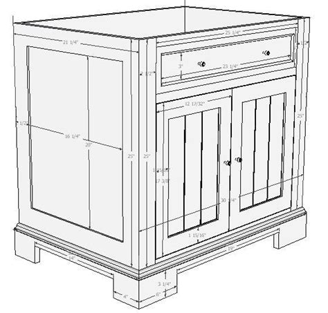 bathroom vanity plans woodworking vanity cabinet plans mf cabinets