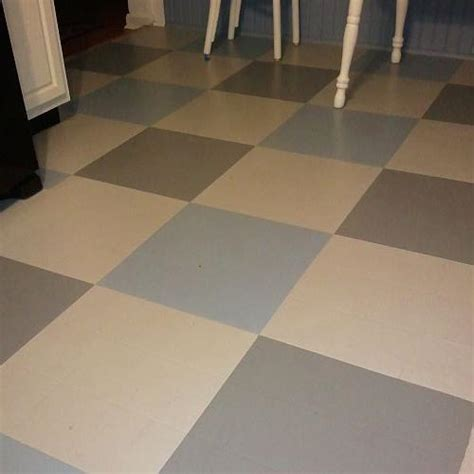 hometalk painted vinyl floor update