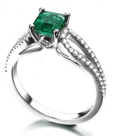 perfect twin row  carat princess cut emerald  diamond