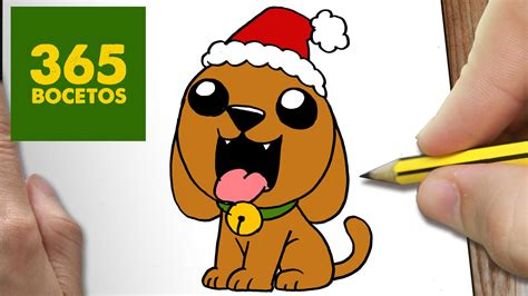 imagenes animadas de animales de navidad como dibujar un perro para navidad paso a paso dibujos