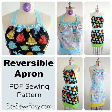 sewing pattern for reversible apron fully reversible apron pdf sewing pattern