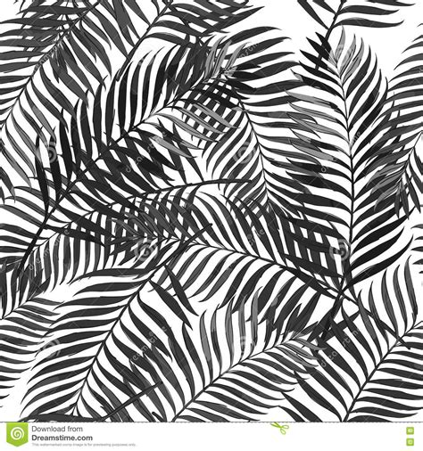 palm leaf pattern vector vector summer seamless pattern with palm leaves stock