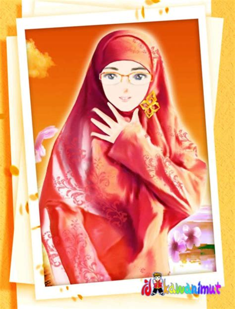 gambar kartun muslimah cantik berhijab anak cemerlang