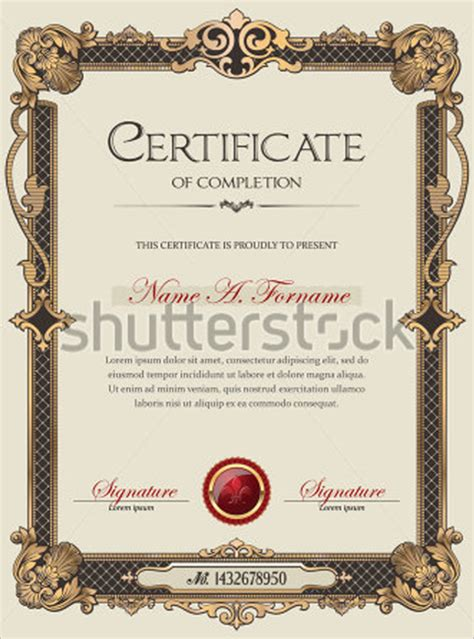 academic certificate template 25 sle academic certificate templates free word formats