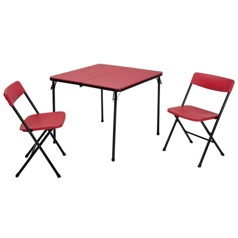 Cosco Folding Table And Chairs Cosco 5 Folding Table And Chair Set In Teal 37557teae The Home Depot