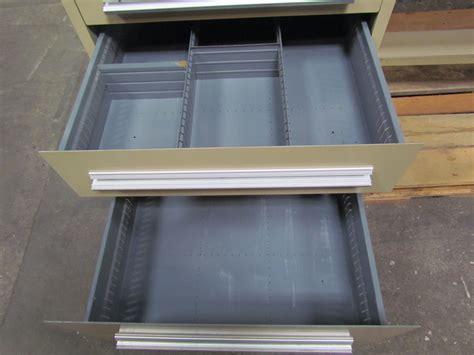 stanley work bench stanley vidmar workbench 36x96 hardwood top w riser 4 drawer cabinet outlets ebay