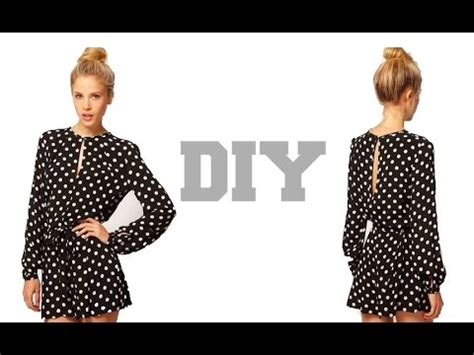 short jumpsuit pattern free diy long sleeves jumpsuit shorts easy sewing youtube
