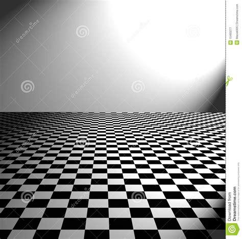 large black and white checker floor stock illustration