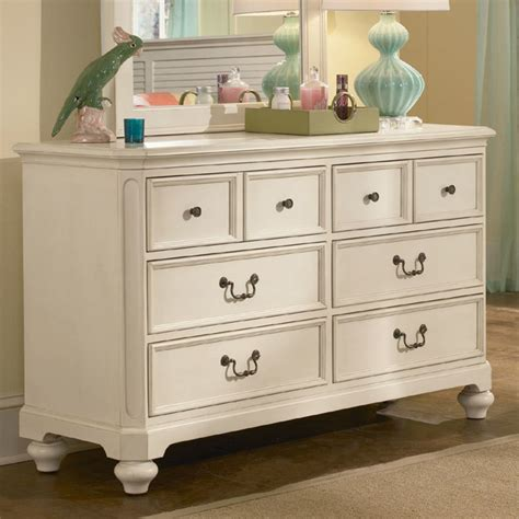 retreat in antique white 6 drawer dresser modern by
