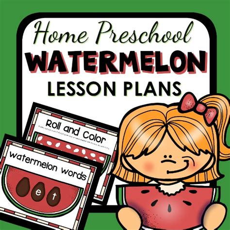 home preschool lesson plans watermelon theme home preschool lesson plans home