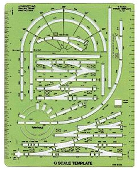 model railroad track templates track template g scale ctt3000 ctt model railroad