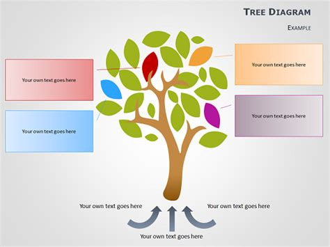tree diagram template cause and effect tree diagrams for powerpoint