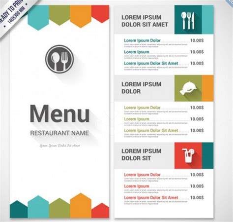 Top 30 Free Restaurant Menu Psd Templates In 2018 Colorlib Free Printable Breakfast Menu Templates
