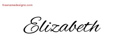 elizabeth tattoo designs cursive name designs elizabeth free free