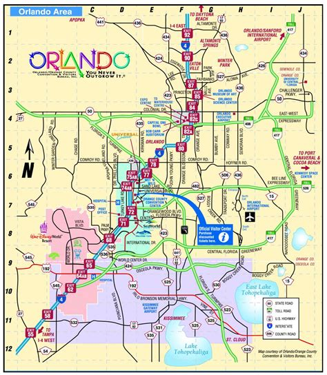 Map Orlando by Image Gallery Orlando Map