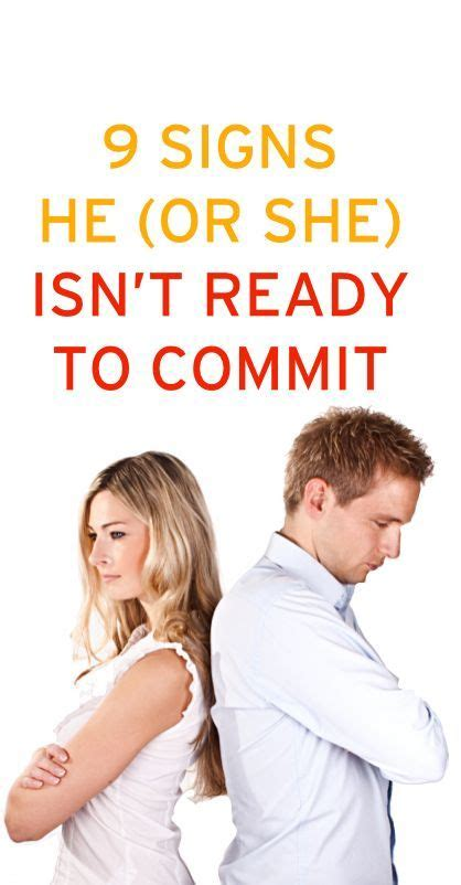 8 Signs He Is Not Ready To Commit by 97 Best Images About Date Ideas Relationship On