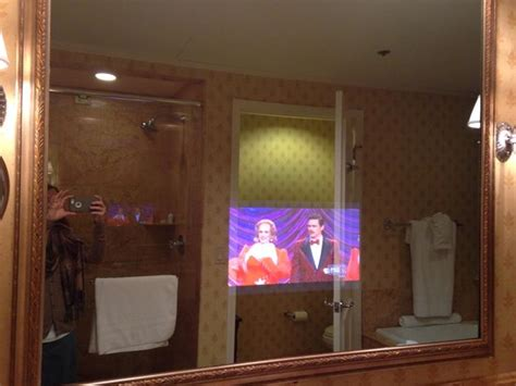 tv in the mirror bathroom tv in the bathroom mirror picture of hermitage hotel