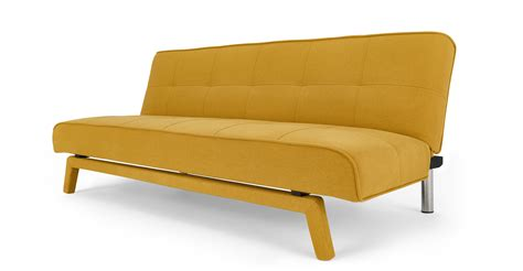 sofa bed etc yoko sofa bed butter yellow sofas etc
