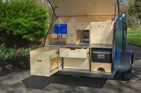 photos of galley options teardrops etc pinterest trailers trailer storage and teardrop tiny yellow teardrop featured teardrop teardrops northwest