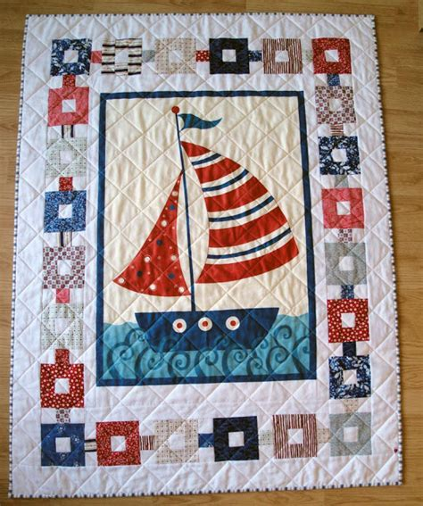 Nautical Themed Quilts by Serendipitijoy Nautical Quilt 2 Finished