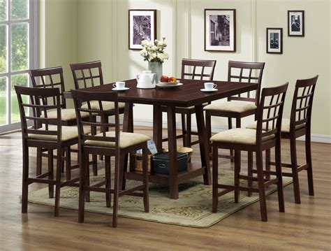 dining room pub sets baxton studio katelyn modern 7pc pub dining table set