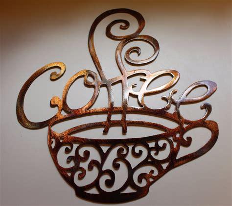 coffee wall decor ornamental coffee metal wall decor 13 quot wide by 15 3 4