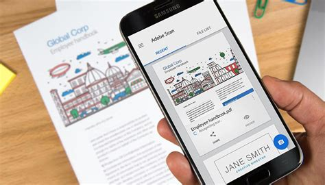 mobile document scanner turn your phone into a document scanner with adobe scan cnet