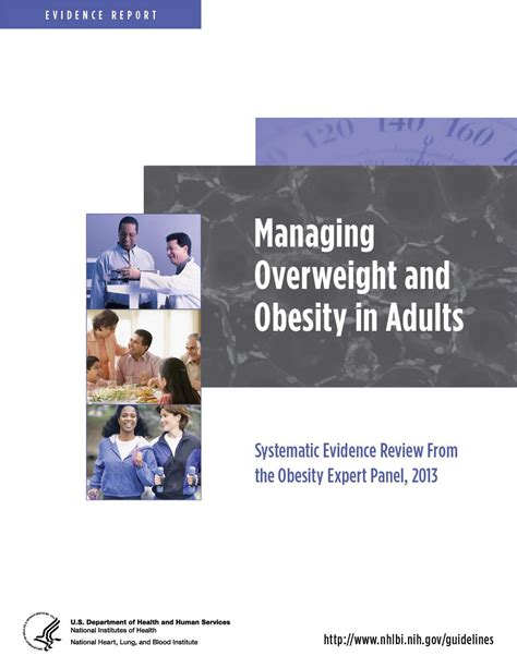 nhlbi study sections managing overweight and obesity in adults systematic