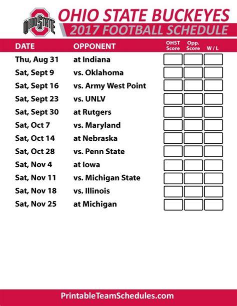 printable schedule ohio state football 2015 the 25 best buckeye football schedule ideas on pinterest