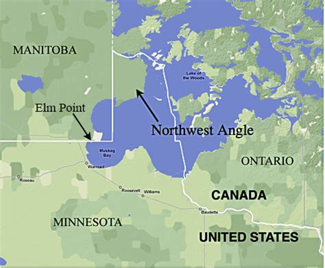 map between usa and canada northwest angle