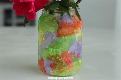 tissue paper vase craft