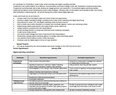 digital marketing plan template doc 17 digital marketing strategy templates free sle