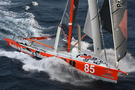 catamaran sailing heavy seas prb wins barcelona world race prologue