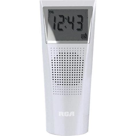 bathroom clock radio rca brc11 splash resistant bathroom clock radio splash