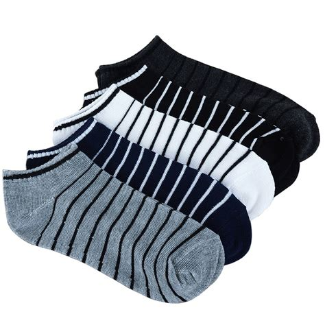 Kunci Sock Set 10 Pcs 5 Colors Sock 5 Pairs 10pcs Lot Package Summer Light Socks Stripe Cotton Sock