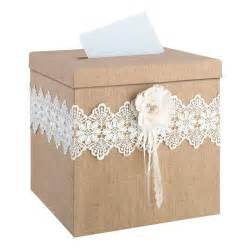how to make a wedding reception gift card box wedding card box rustic burlap and lace