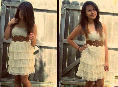 erzie hiyas forever 21 white lace dress h m brown belt