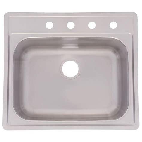 top mount kitchen sink no holes moen 2200 series drop in stainless steel 25 in 3 hole