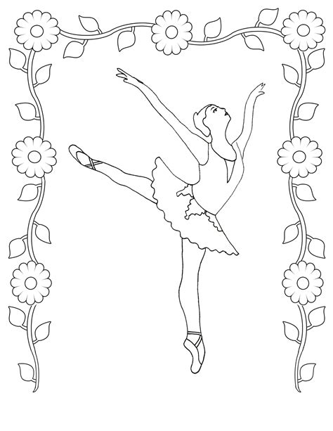 free printable ballet coloring pages kids