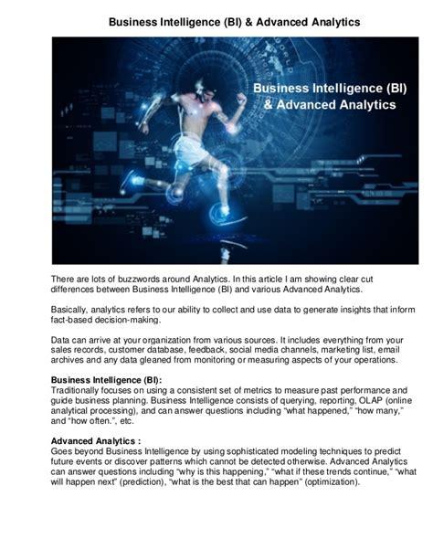 Business Intelligence Mba India by Business Intelligence Bi Advanced Analytics