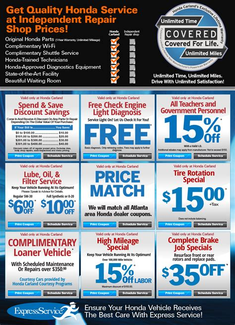 Honda Service Coupons by Service Auto Repair Department Pohanka Honda In Capitol