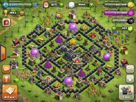 th9 layout december update misguided minds th9 trophy hunting setups