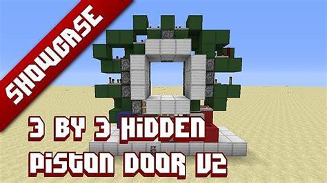How To Make A 3x3 Piston Door by 3x3 Piston Door Minecraft Project