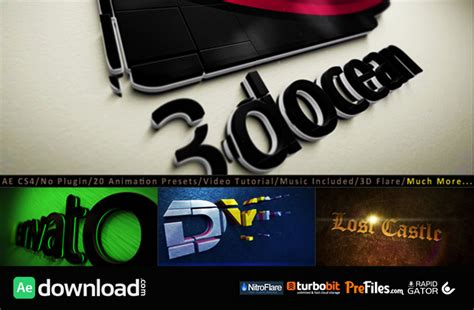 logo animation after effects software free 3d logo title intro animation kit videohive project free free after effects