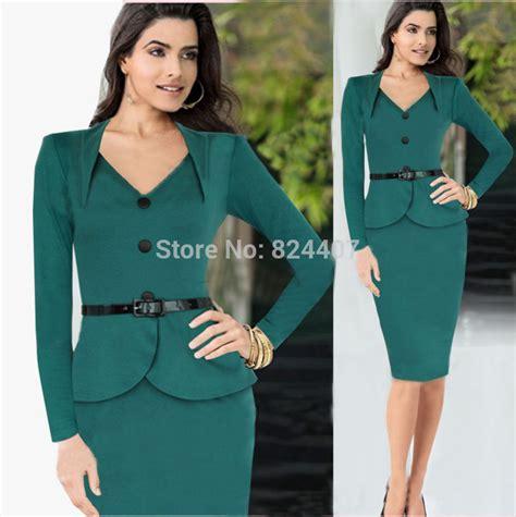 s v neck office dress work wear for business