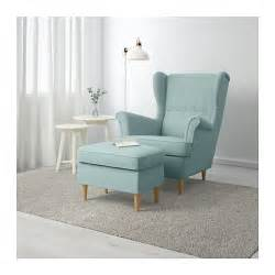 ikea sofa strandmon strandmon footstool skiftebo light turquoise ikea