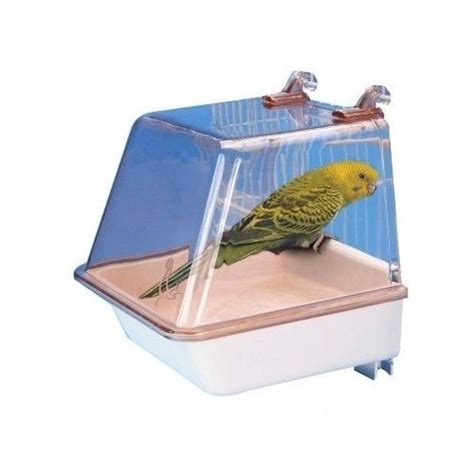 small bird bath clip on cage parakeets finches canary toy